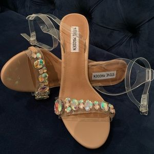 Steve Madden Royalle Clear Sandals